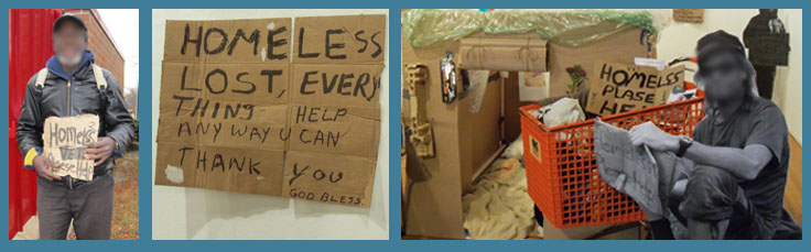 Letters Home Project | Signs Made by Members of Our Homeless